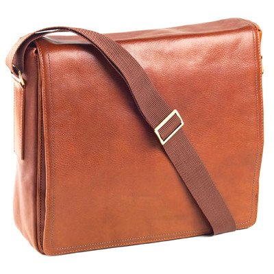 Tuscan Messenger Bag Color: Tan by Clava Leather