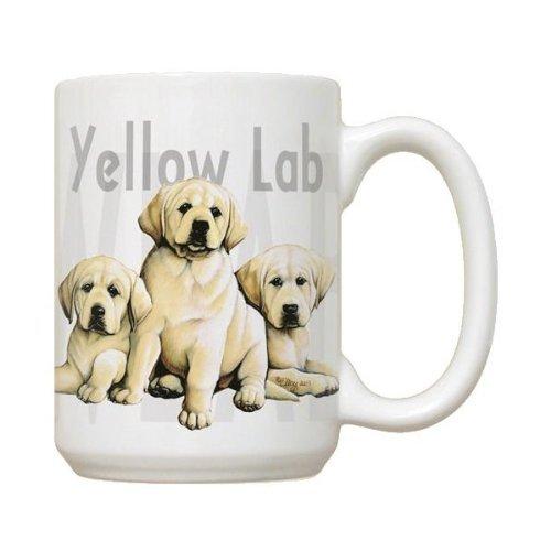 Yellow Lab Puppies Mug - Large White Coffee Mug by Fiddler's Elbow