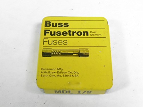 Bussman MDL-1/8 Fuse 1/8A 250V Pack of 5 pcs
