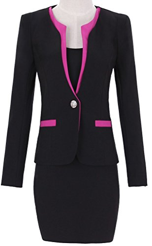 Yinxiang Liying Women's Slim Overalls Business Suit Skirt Sets