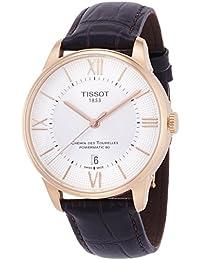 Tissot Chemin Des Tourelles Powermatic 80 Silver Dial Brown Leather Mens Watch T0994073603800