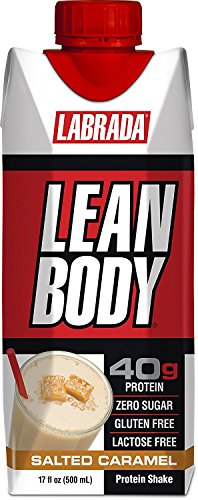 LABRADA Lean Body Ready-to-Drink Bottle, Salted Caramel, 12 Count - Labrada Lean Body Protein Shake