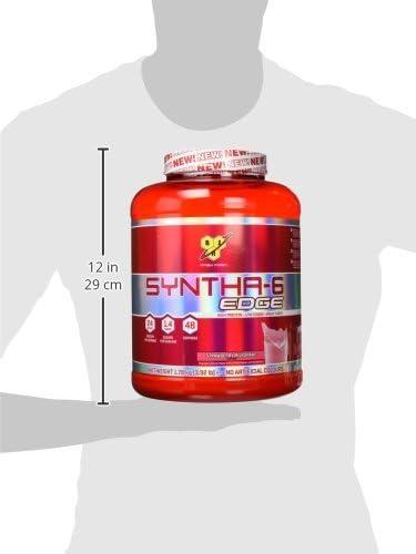 BSN Nutrition Syntha 6 Edge Whey Protein Isolate, Proteinas para Masa Muscular, Suplementos Deportivos en Polvo con Proteinas Whey, Batido de Fresa, ...