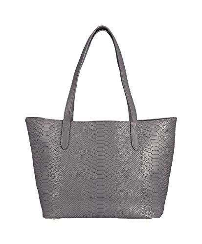GiGi New York Teddie Tote Bag in Embossed Python ()