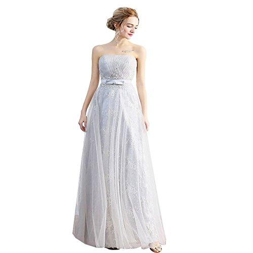 Partie 14 Gris Bretelles Sun Robes Soirée De 12 Manches De Mariée Dentelle Goddess Slim Broderie Robes De Longues Robes Sans AFFtTHwnxq