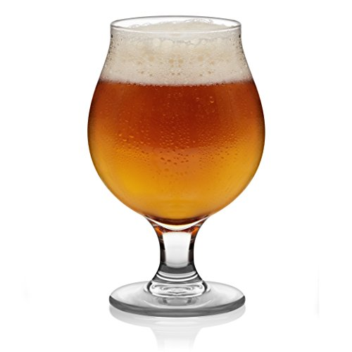 (Libbey Craft Brews Classic Belgian Beer Glasses, 16-ounce, Set of)