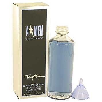 Angel Cologne By Thierry Mugler 3.4 oz Eau De Toilette Eco Refill Bottle For Men – 100 AUTHENTIC