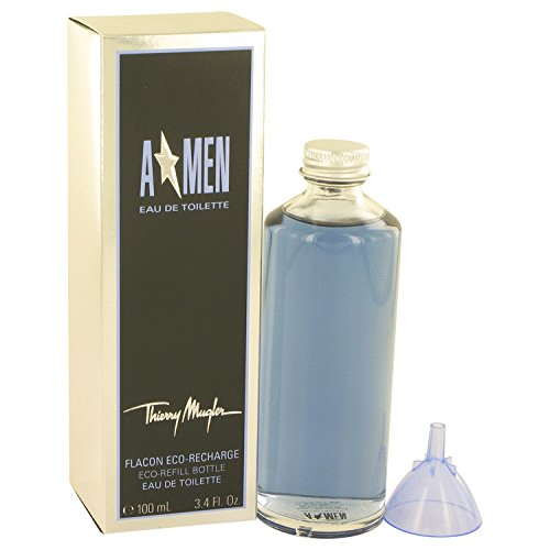Angel Refill (Angel Cologne By Thierry Mugler 3.4 oz Eau De Toilette Eco Refill Bottle For Men - 100% AUTHENTIC)
