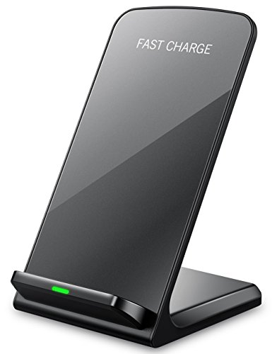 Seneo iPhoneX Wireless Charger, Qi Certified 10W Fast Wireless Charger Charging Pad Stand(No AC Adapter) for Galaxy S9/S9+ Note 8/5 S8/S8+ S7/S7 Edge S6 Edge+, Standard Qi Charger for (Circuit Station Card)