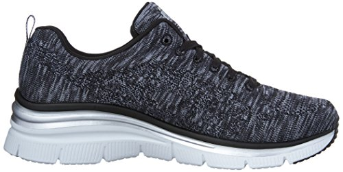 Skechers Donna Fit bkw Chic Nero Tecnica skees Fashion Style Scarpa rqrAB
