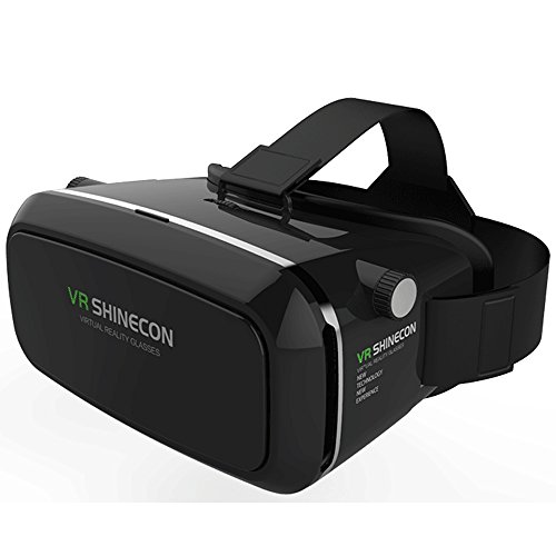 Gracetop 3D VR Glasses, 3D VR Headset Virtual Reality Box with Adjustable Lens and Strap for iPhone 5 5s 6 plus Samsung S3 Edge Note 4 and 3.5-5.5 inch Smartphone for 3D Movies and Games