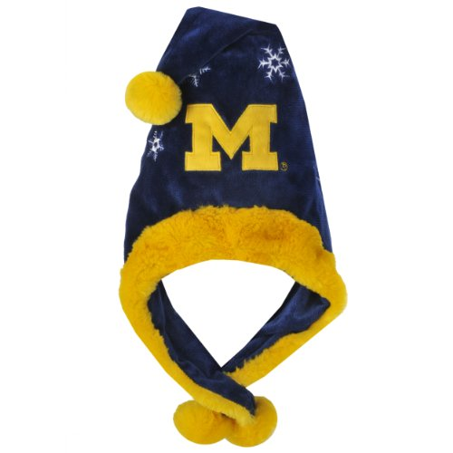 NCAA Michigan Wolverines Thematic Santa Hat (Santa Thematic Hat)
