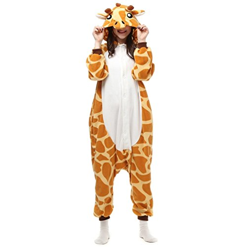 NINI.LADY Unisex Sleepsuit Pajamas Cosplay Costume Adult Sleepwear Giraffe S