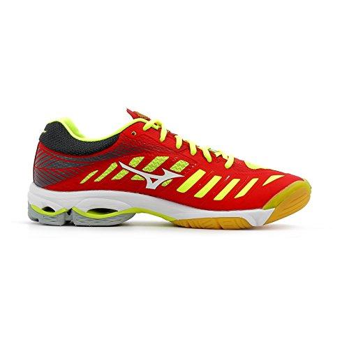 Mizuno Wave Lightning Z4, Scarpe da Running Uomo Multicolore (Marsred/White/Safetyyellow)