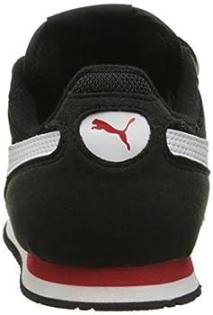 Puma Cabana Racer Mesh V Kids Sneaker (Toddlerlittle Kidbig Kid), Black White, 1.5 M Us Little Kid 1