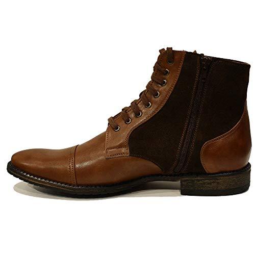 Leder Schnüren Stiefel Braun Modello Rindsleder Stanislao Leder Handgemachtes Weiches Italienisch Stiefeletten Herren wXSPvqY