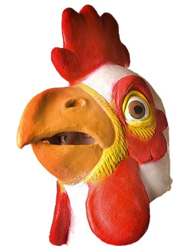Chicken Head Costume (Gmasking Latex White Chicken Head Mask)