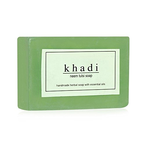 KHADI-Handmade-Herbal-Soap-Neem-Tulsi-125g-Pack-of-7-Free-Expedited-Shipping