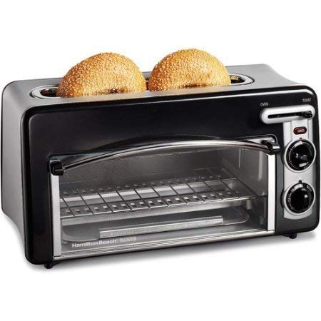 Hamilton Beach Toastation 2-in-1 2-Slice Toaster & Oven, black color /, Model:22703