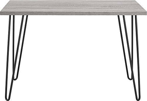 Ameriwood Home 9851296PCOM Altra Owen Retro Desk with Metal Legs, Weathered Oak