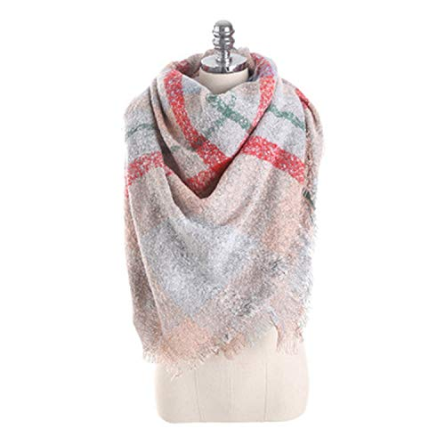 Autumn and winter new scarf mohair loop yarn mosaic square scarf,fen,onesize