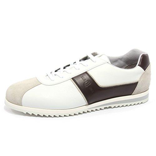 B2398 sneaker uomo CAR SHOE KUE scarpa bianco/marrone shoe man Bianco/Marrone