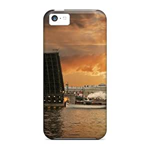 New Fashionable NikRun RCbXu2254jNCXb Cover Case Specially Made For Iphone 5c(drawbridge At A Beautiful Sunset)