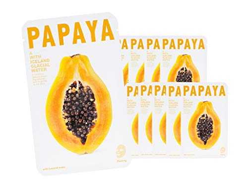 [CNF COSMETIC] THE ICELAND PAPAYA MASK SHEET - [10pcs] ()