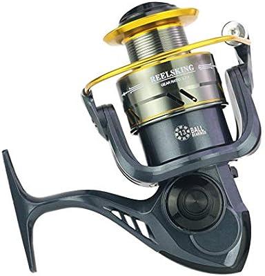 MD500-10000 Series carretes de Pesca 13BB Pesca de Metal fundición Spinning Carretes Cebo de la Rueda de Pesca de Carrete Peche Moline,MD1000: Amazon.es: Deportes y aire libre
