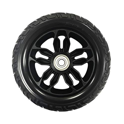 RIANT WHEEL, 8 X 2 inch (200X50 mm), Solid, with Bearing, PU Tires, Power Wheelchair Caster Wheels, one ()
