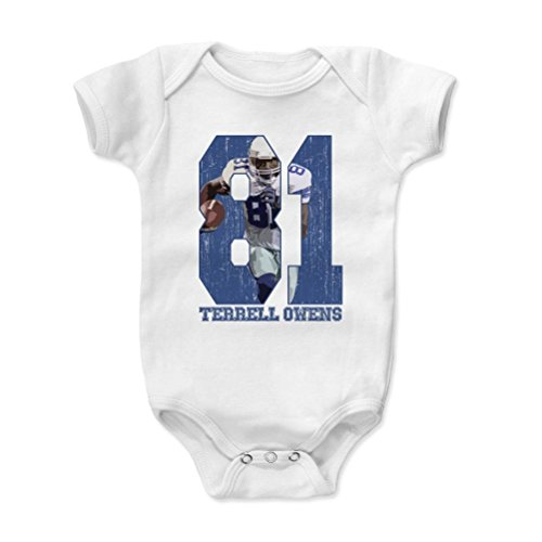 500 Levels Terrell Owens Baby Onesie 6 12 Months White   Vintage Dallas Football Baby Clothes   Terrell Owens Game B