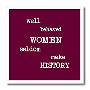 ht_16004_2 Mark Andrews ZeGear Activist - Well Behaved Women - Iron on Heat Transfers - 6x6 Iron on Heat Transfer for White Material