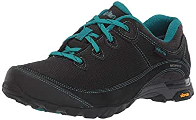 Ahnu Women's W Sugarpine II Waterproof Ripstop Hiking Shoe, Black, 5 Medium US