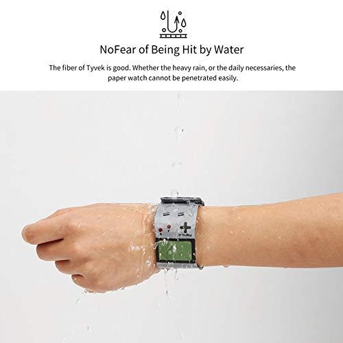 Multicolor VCB Personalisierte Uhr aus Papierpapierarmband mit Magnetverschluss und LED-Digitaluhr Gameboy