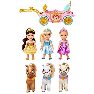 Disney Petite Doll and Jakks Petite Doll Pony and Royal Carriage Gift Set: Toys & Games