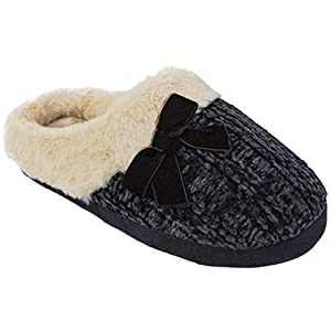 Chinese Laundry CL Women's Slippers, Winter Warm Knit Slip on Clogs with Memory Foam, Size Small to XL
