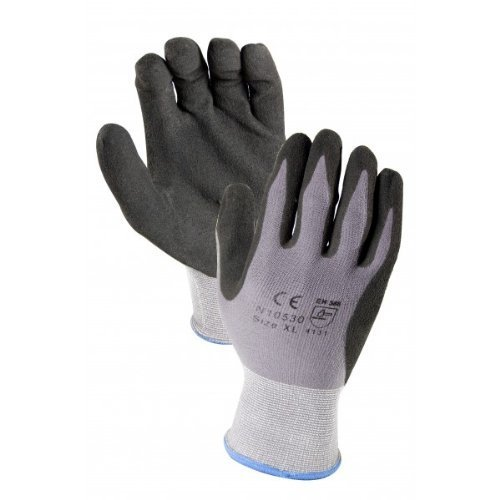 12 PAIRS Micro-Foam Nitrile Coated 15 GAUGE WORK GLOVE - MEDIUM by Azusa Safety