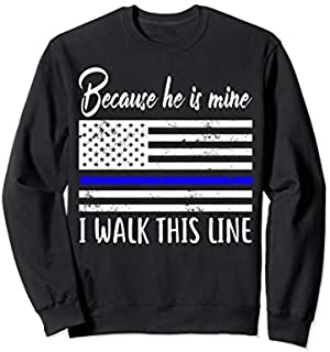 American Flag Police Officer Wife  Funny Police Lover Sweatshirt T-shirt | Size S - 5XL