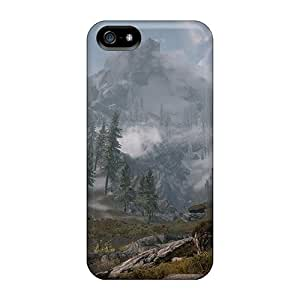 Excellent Iphone 5/5s Case Tpu Cover Back Skin Protector Skyrim Mountain