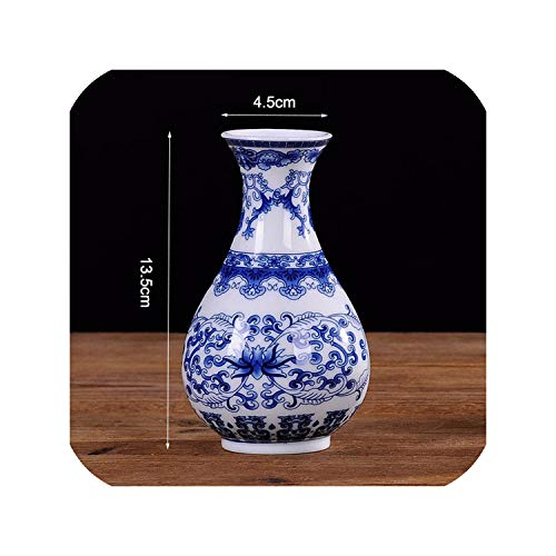 Celadon Porcelain Flower Vase Home Decoration Ceramic Vases for Artificial Flowers Classic Traditional Antique,A-4