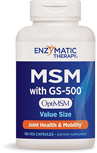 Enzymatic Therapy MSM Vegetarian Capsules, 180 Count, Packaging May Vary