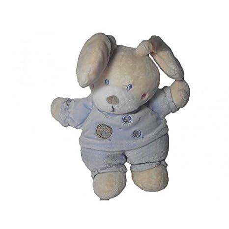 Nicotoy/kitchoun - Doudou Nicotoy conejo azul redondo marrón ...