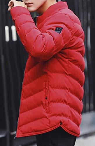 Gocgt In Maschile Pelliccia Con Cappuccio Giacca Di Rosso Cotone Addensare Moda Giù w5XqxZf44