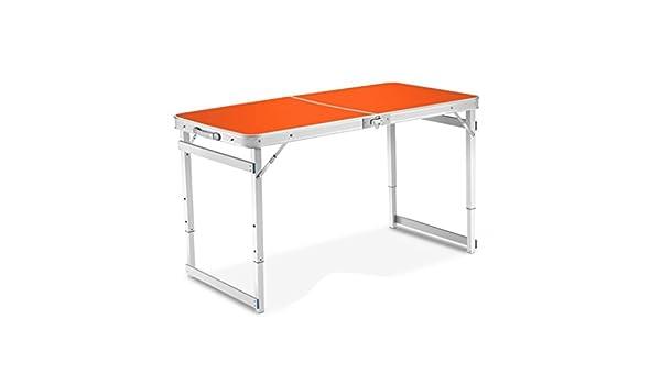 XUQIANG Mesa Plegable de Aluminio portátil para Exteriores, Mesa ...