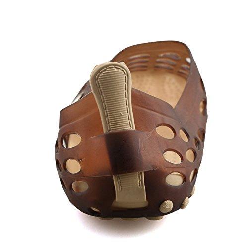 Eagsouni Mens Summer Pull-On Water Aqua Slip On Walking Shoes Beach Hole Sandals Brown yRFZt2F