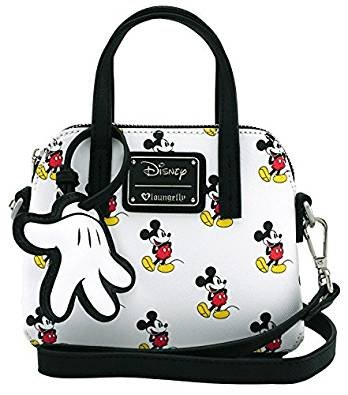 Loungefly x Mickey Print Micro Dome Crossbody Bag WDTB1287