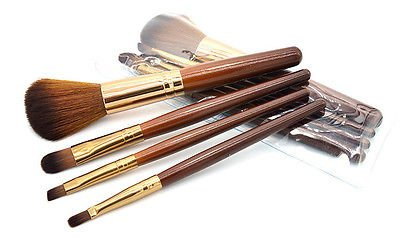 Foundation Brush Makeup Brush- New Women Professional 4 pcs Makeup Brush Set tools Comestic Toiletry Kit Wool Brand Make Up Brush Set for Beauty - Makeup Brushes]()