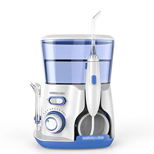 ARAYACY Limpiador De Dientes EléCtrico - Hilo Dental PortáTil con DepóSito 800ML, 5 Boquillas Funcionales,Blue