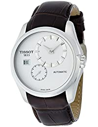 Tissot Couturier Automatic Silver Dial Brown Leather Mens Watch T0354281603100