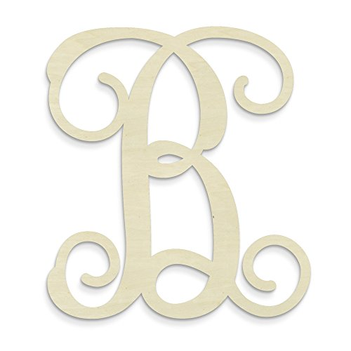 UNFINISHEDWOODCO Single Vine Unfinished Monogram